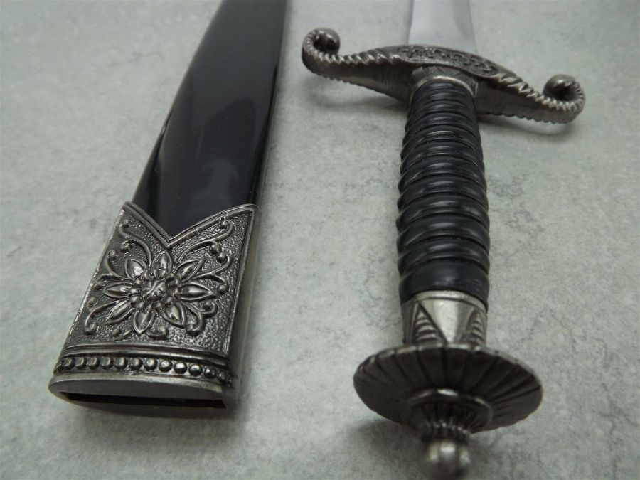 New ANCIENT STYLE KNIGHTS DAGGER Sword  With Sheath BRAND NEW 5