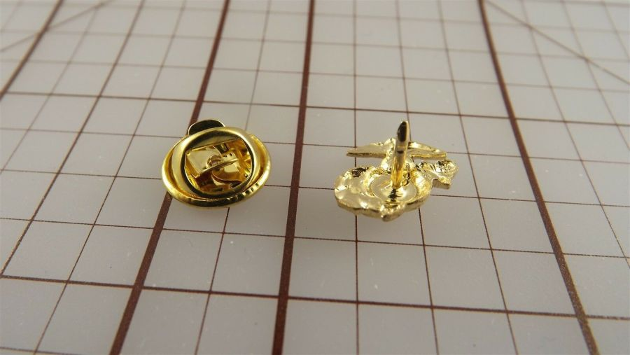 "USMC Gold Tone Right Collar ""Mini Pin"" United States Marine Corps Lapel EGA A1 3"