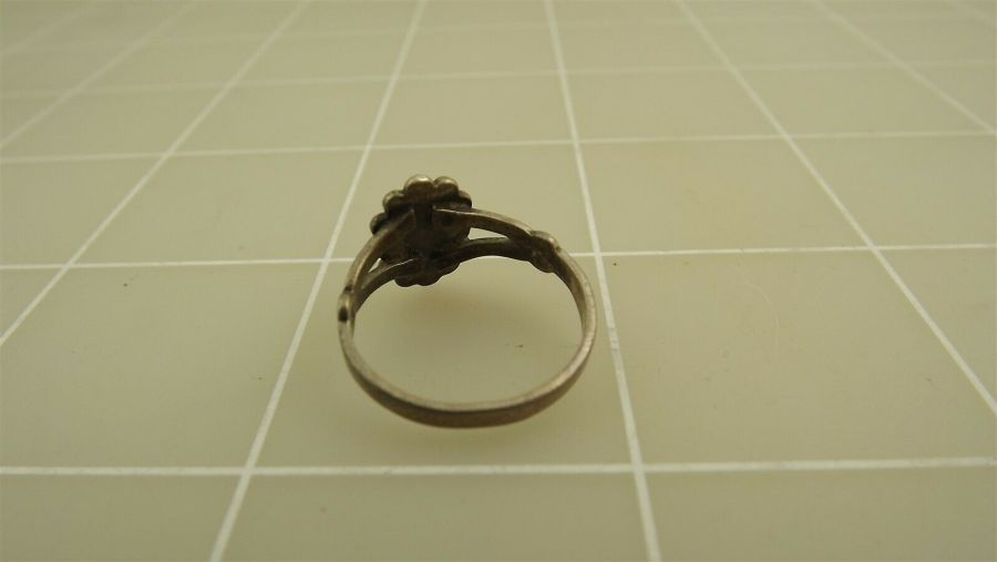 Vintage Sterling Silver TURQUOISE Ring 2.1Grams Size 5 3/4 4