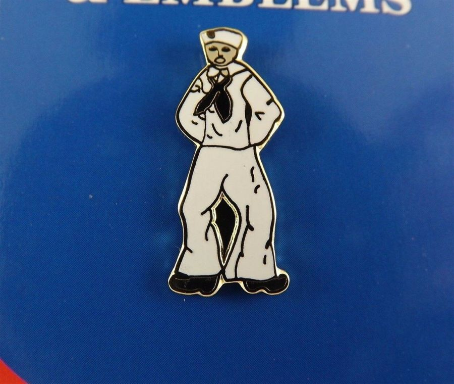 "BRAND NEW Lapel Pin United States Navy SAILOR Man Enamel 1"" 1"