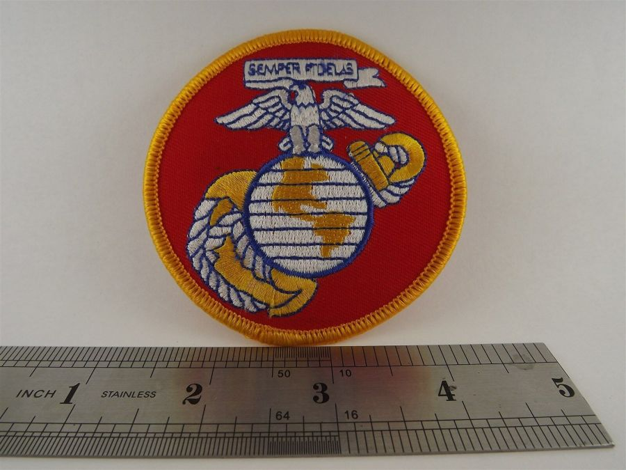 USMC United States Marines Iron on Patch Brand New Logo Anchor Globe Eagle 3