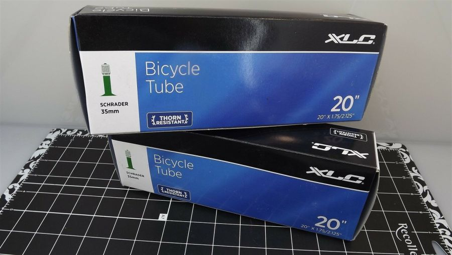 "XLC THORN RESISTANT Boxed 20"" X 1.75/2.125"" SCHRADER INNER TUBE 2-PIECE SET 1"