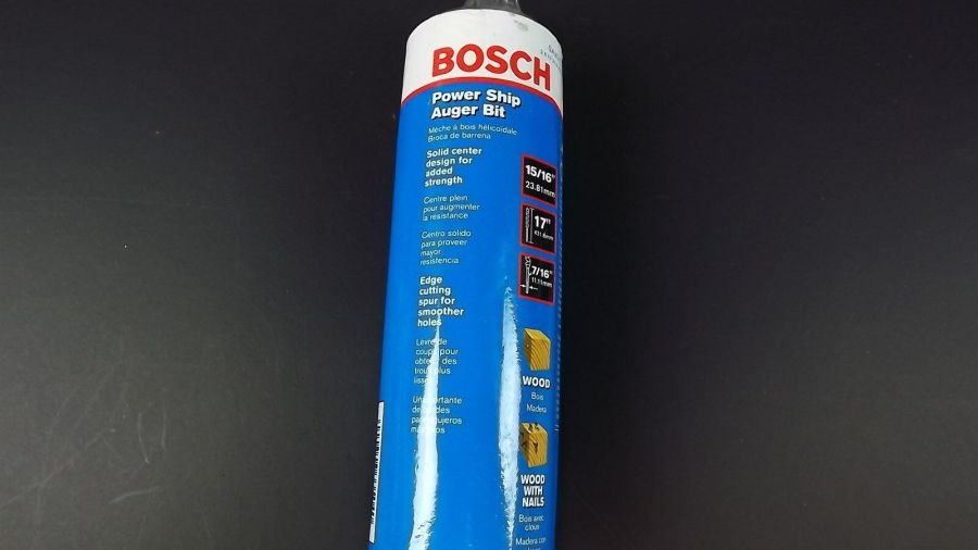 """BRAND NEW Bosch SA2012   Auger Bit   15/16"""" x 17"""" POWER SHIP """"WOOD WITH NAILS"""" 3"""