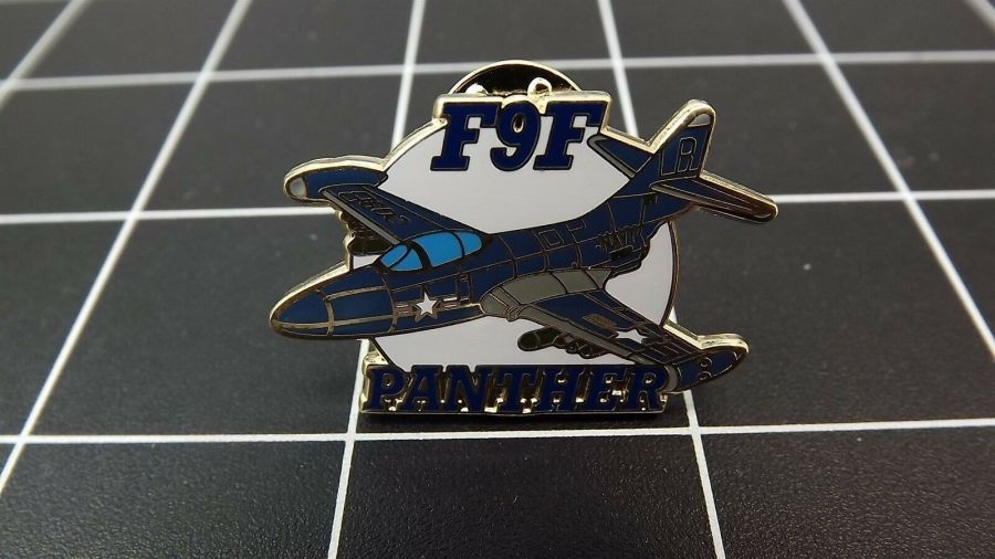 """BRAND NEW Lapel Pin """"F9F PANTHER"""" ENAMELED LIFETIME GUARANTEE  JET AIRPLANE 1"""