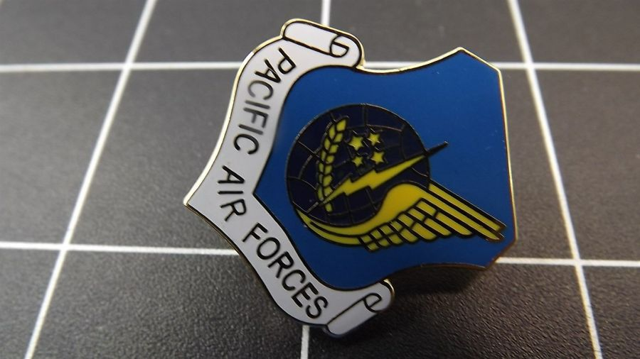 """BRAND NEW Lapel Pin U.S. Air Force PACIFIC AIR FORCES Enamel 1"""" 5"""