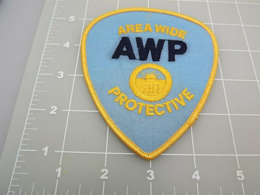 """Brand New Iron-on PATCH AREA WIDE PROTECTIVE AWP 4 x 4 1/2"""" 3"""