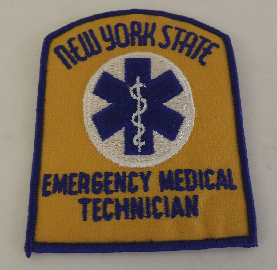 Collectible New York State Emergency Medical Technician Patch 1