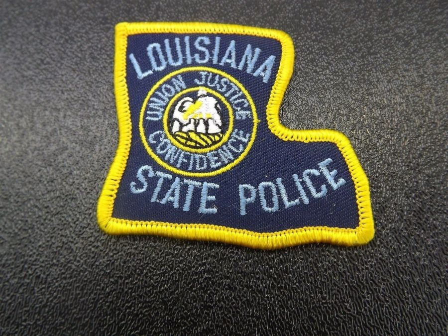 """""""LOUISIANA STATE POLICE"""" PATCH BRAND NEW """"UNION, JUSTICE, CONFIDENCE"""" 2-3/4"""" 1"""