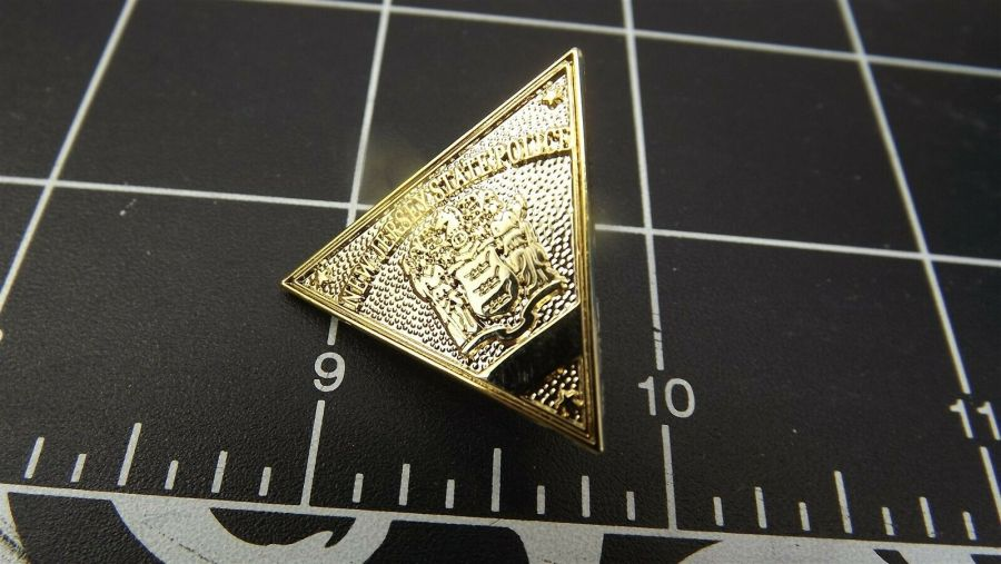"""NEW JERSEY STATE POLICE"" MINI-BADGE Enamel Lapel Pin BRAND NEW 3"