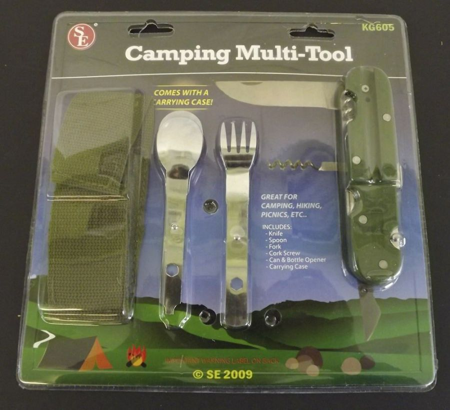 New Camping Hunting Multi Tool Kit Knife Spoon Fork Untensil Kit 1
