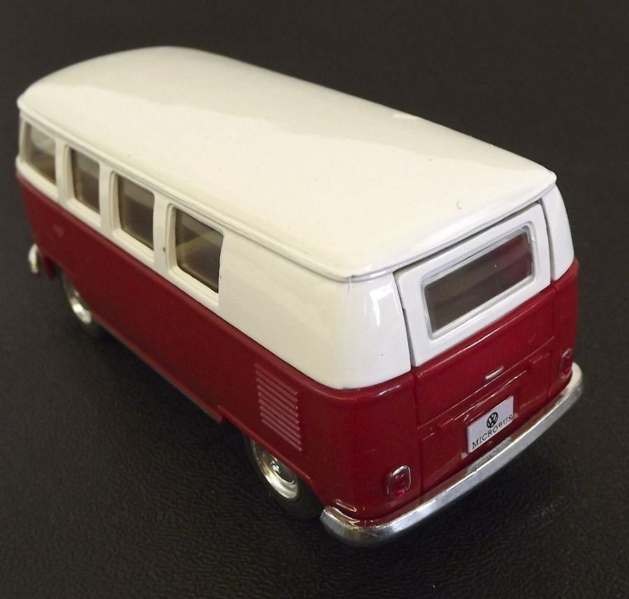 Collectible Die Cast RED 1962 Volkswagen Classic Bus VW 1:32 Scale Kinsmart 4