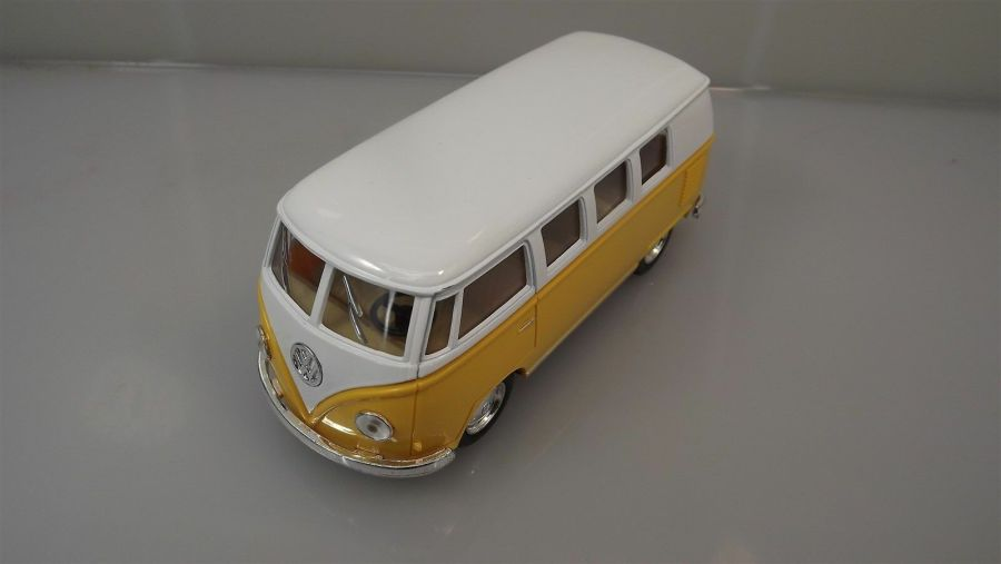 Collectible Die Cast YELLOW 1962 Volkswagen Classic Bus VW 1:32 Scale Kinsmart 1