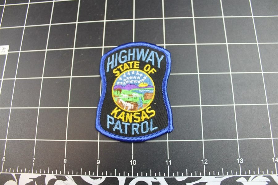 """KANSAS"" STATE PATROL POLICE PATCH BRAND NEW 1"