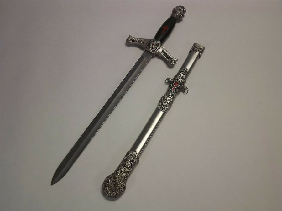 New Knights Templar Mason Masonic SIDE Sword & Sheath YORK RITE Scottish Rite 6