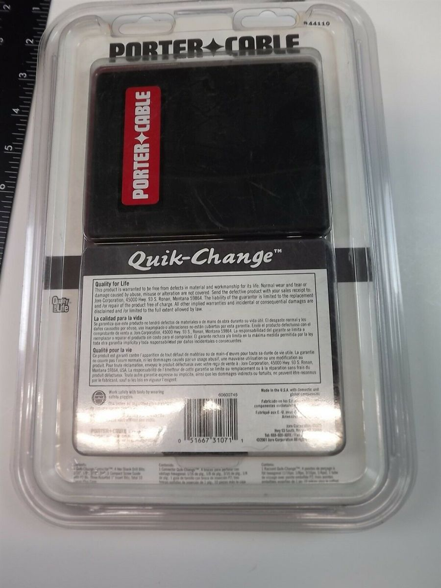 Porter Cable DRILL AND DRIVE SET 44110 Quick-Change 10-PIECE W/ CASE 3