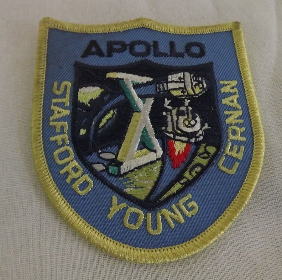 Rare Apllo Stafford Young Center Space School Astronaut Nasa Badge Patch 1