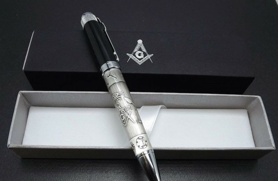 THREE BLUE LODGE PENS QUALITY HEAVY WEIGHT Mason Masonic F&AM OFFICER GIFTS 3