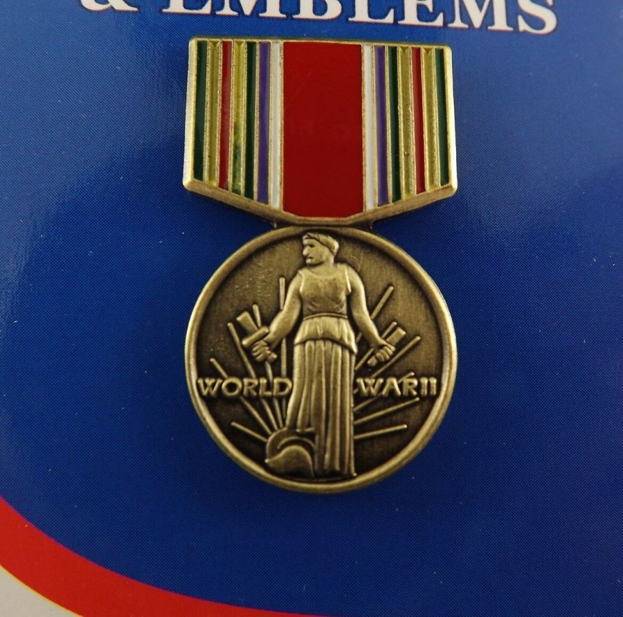 """BRAND NEW Lapel Pin WWII Victory Medal Enamel 1 3/16"""" 1"""
