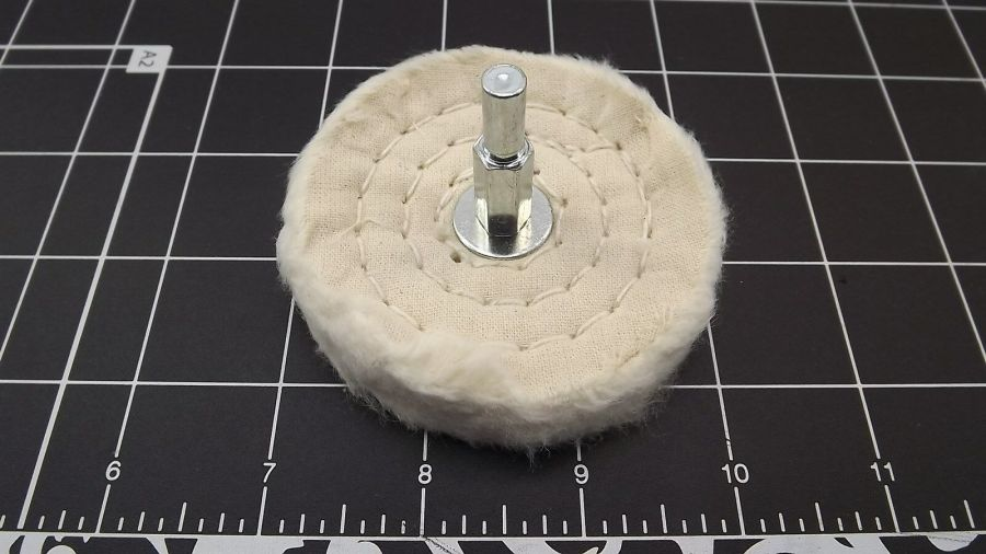 "New 3"" White Buffing Wheel (FORTY LAYERS) 1/4"" Shank Drill Polisher 5"