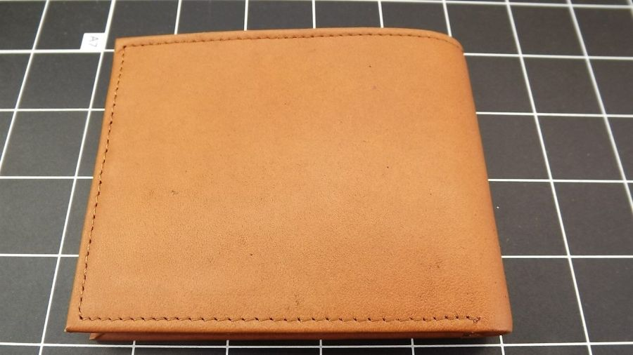 "Genuine Leather ""FIREMAN-FIREFIGHTER"" BILLFOLD WALLET TAN BRAND NEW 3"