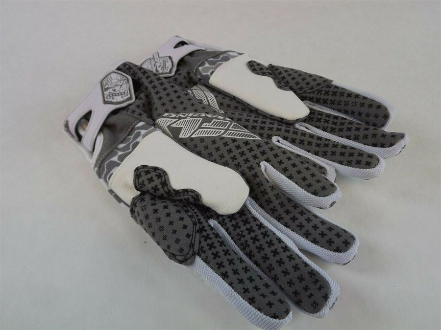 New FLY SWITCH SNOW GLOVE WHITE/GRAY BMX SNOWMOBILE THINSULATE Size 6 (Youth L) 3