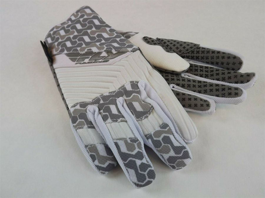 New FLY SWITCH SNOW GLOVE WHITE/GRAY BMX SNOWMOBILE THINSULATE Size 6 (Youth L) 1