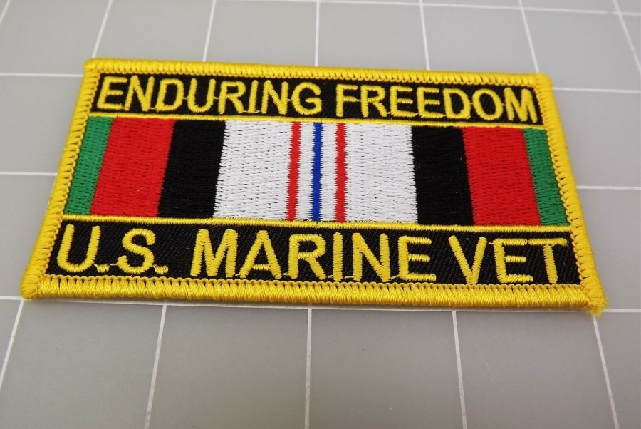 "United States Marine Vet USMC Enduring Freedom PATCH BRAND NEW 4"" 1"