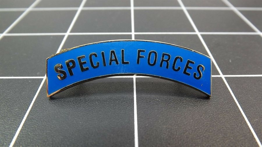 "BRAND NEW Lapel Pin ""Special Forces Tab"" ENAMELED LIFETIME GUARANTEE 1"