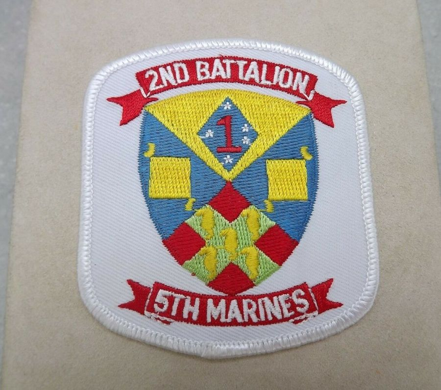 MARINE CORPS USMC 2ND BATTALION 5TH MARINES PATCH BRAND NEW 1