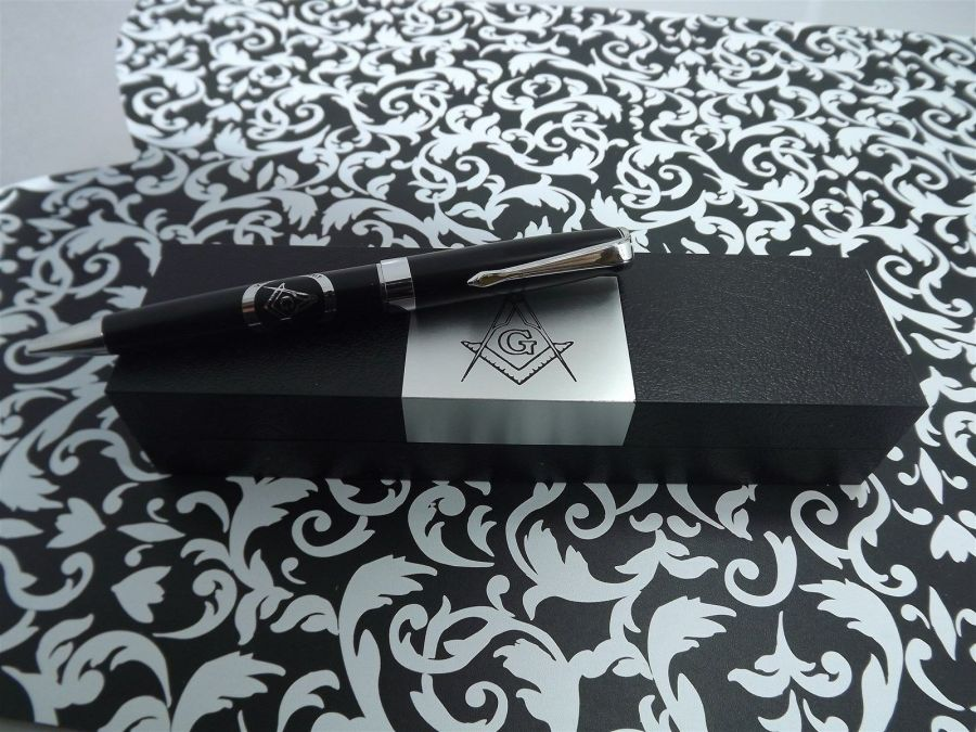 ONE BLUE LODGE PEN QUALITY HEAVY WEIGHT Mason Masonic F&AM GREAT OFFICER GIFT 4