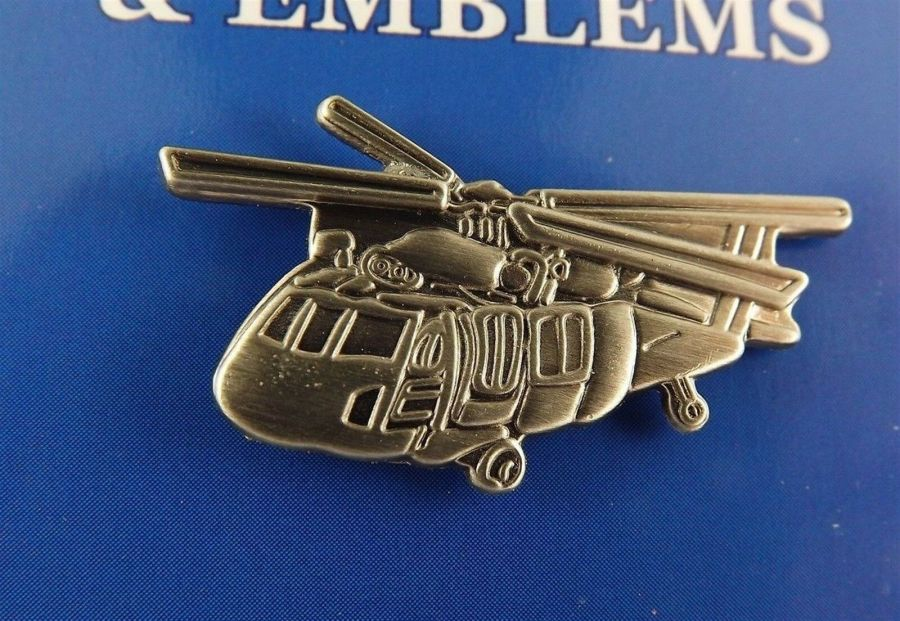 "BRAND NEW Lapel Pin Helicopter UH-60 BLACKHAWK Pewter 1 1/4"" 1"