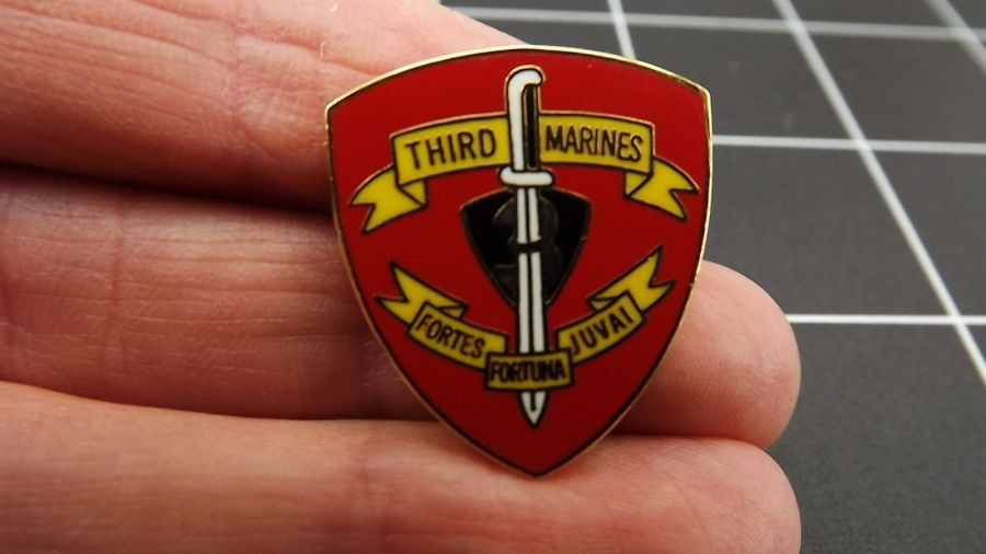 "CLOSEOUT! BRAND NEW Lapel Pin ""THIRD MARINES"" Division LIFETIME GUARANTEE 2"