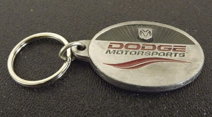 Collectible Solid Pewter Enameled Keychain Dodge Motorsports 1