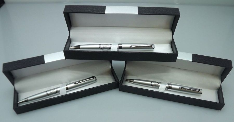 THREE BLUE LODGE PENS QUALITY HEAVY WEIGHT Masonic F&AM OFFICER GIFTS SILVER 1