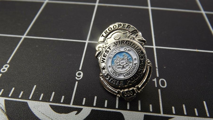 """WEST VIRGINIA STATE POLICE"" MINI-BADGE Enamel Lapel Pin BRAND NEW 1"