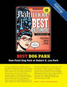 Baltimore Magazine: Best Dog Park 2012