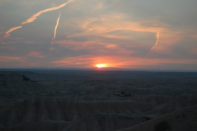 Sunset at The Badlands National Park South Dakota