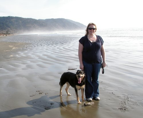 Boomer visits the ocean for the first time!