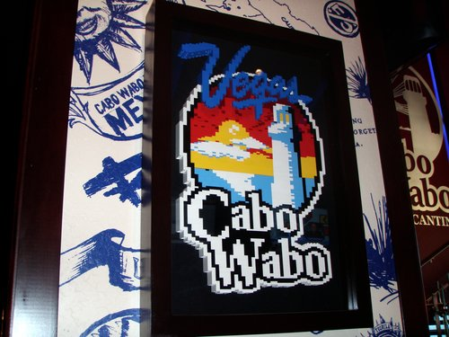 Cabo Wabo sign out of legos, yes please!