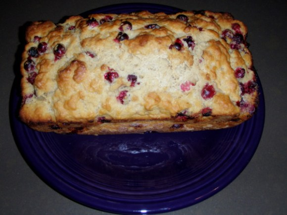 beer bread with cranberries
