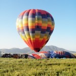 An early morning flight on a Hot Air Balloon, Temecula California