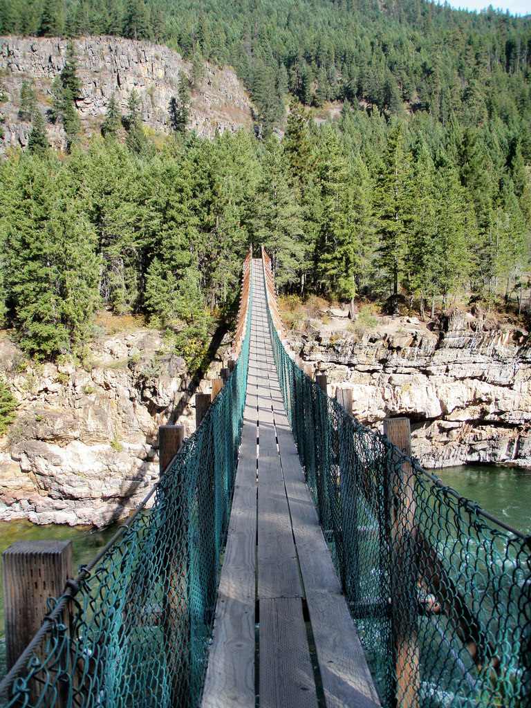 the swinging bridge The swinging bridge is a 160 foot long suspension bridge that was built by the  civilian conservation corps in 1937 this bridge was the only bridge over the.