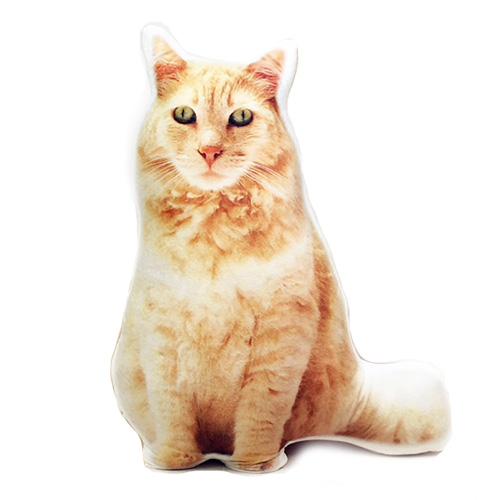 personalised cat shaped cushion