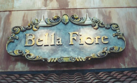 hand-crafted bella fiore sign
