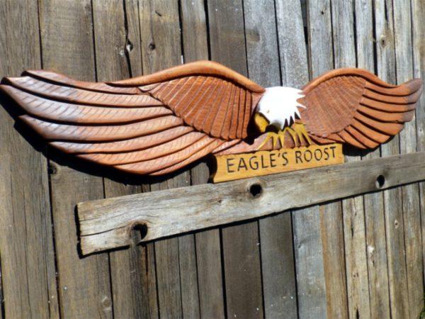 custom repair and refurbishing large eagle