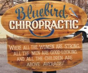 green is in full swing bluebird sign