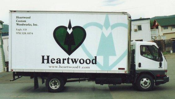 heartwood custom woodworks truck