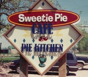 the backporch cafe original sweetie pie sign