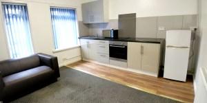 Flat 1 living room / kitchen
