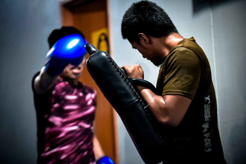 Training with Thai Pads